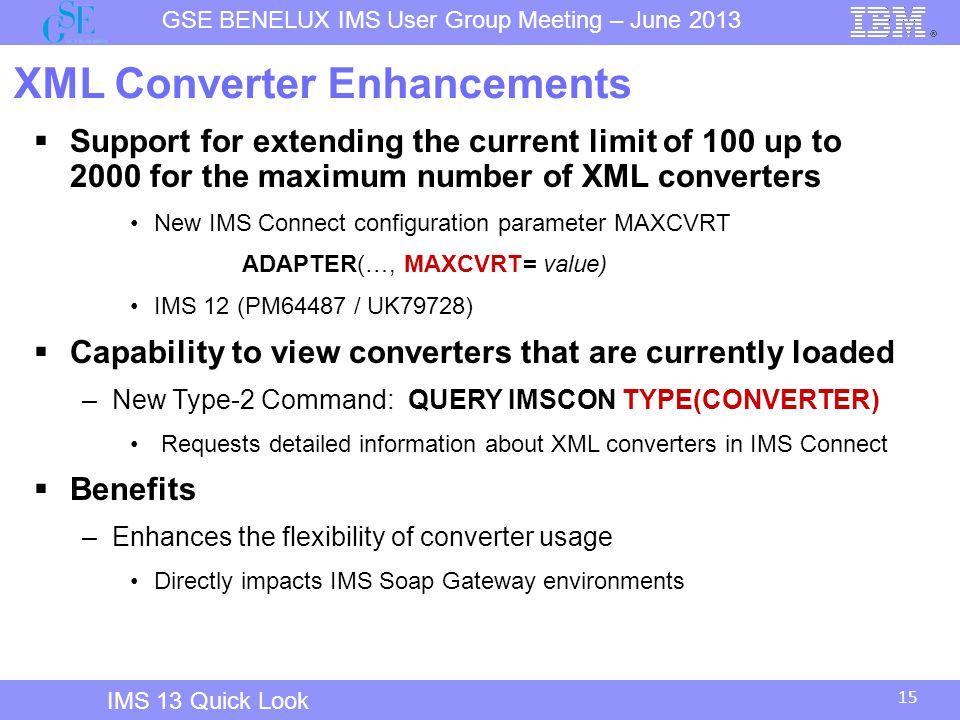 XML Converter Enhancements