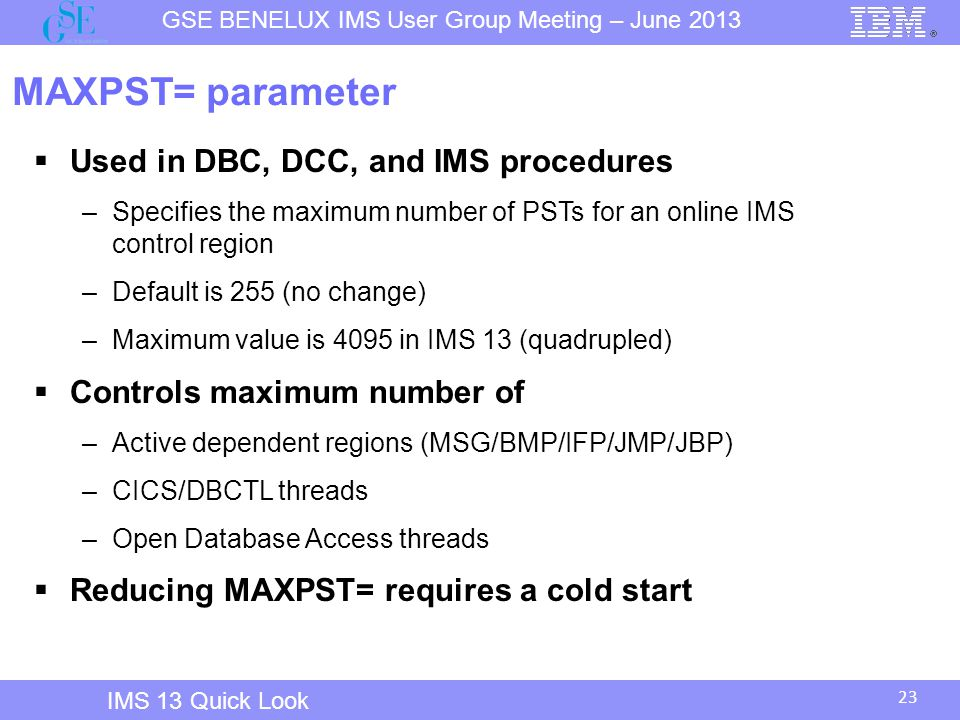 MAXPST= parameter Used in DBC, DCC, and IMS procedures