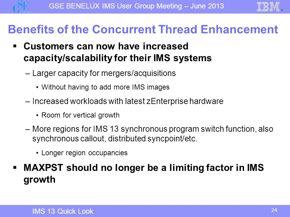 Benefits of the Concurrent Thread Enhancement
