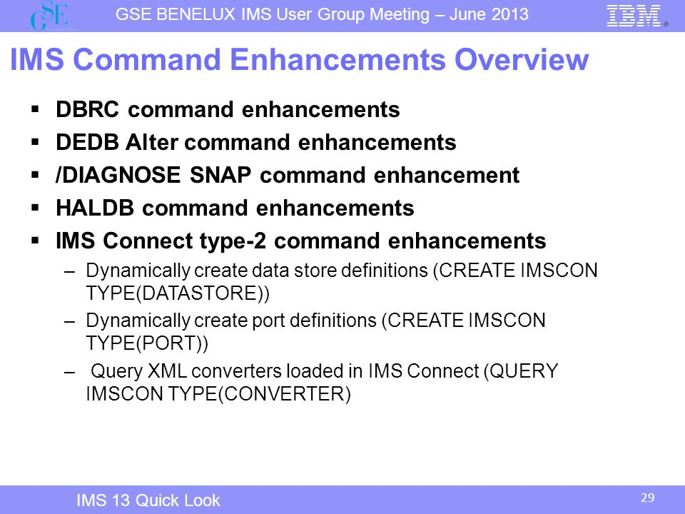 IMS Command Enhancements Overview