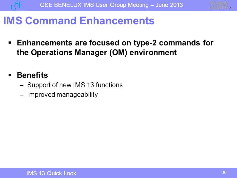IMS Command Enhancements