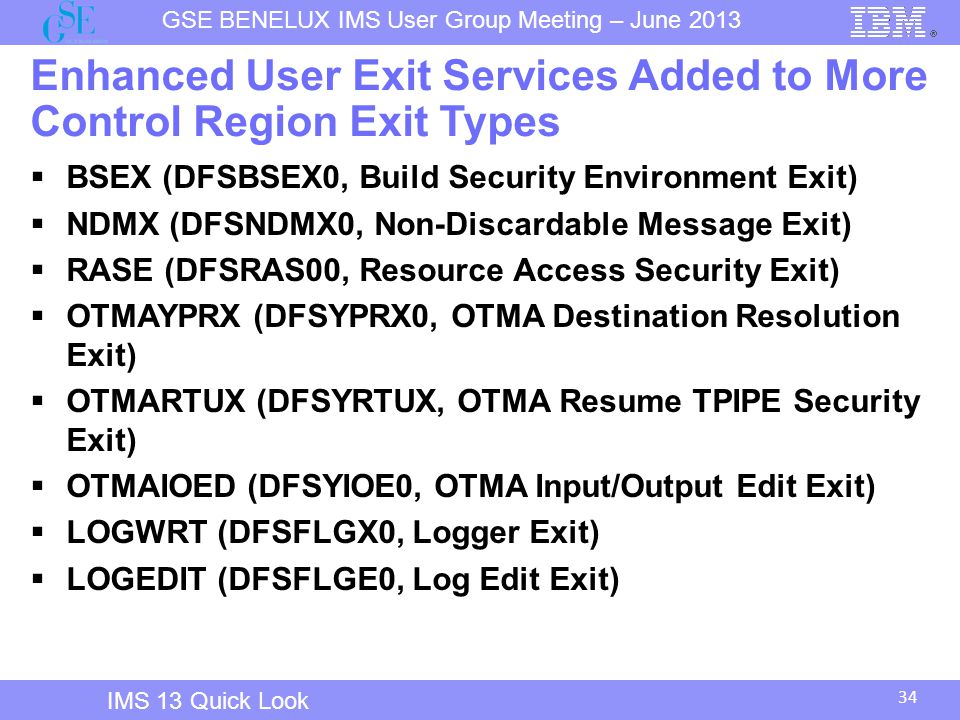 Enhanced User Exit Services Added to More Control Region Exit Types