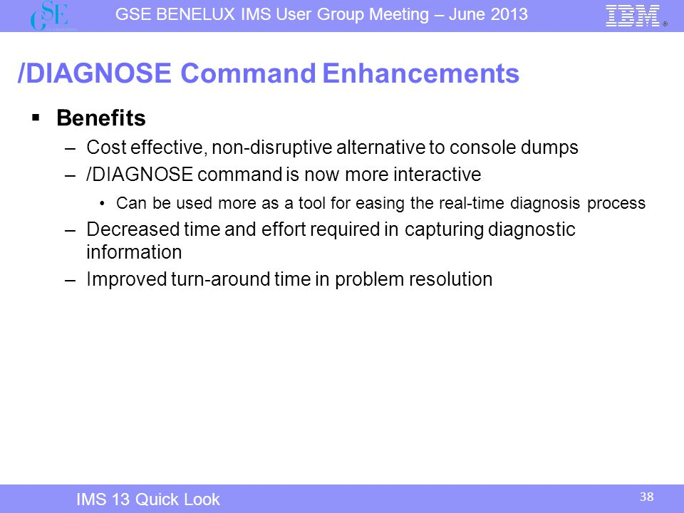 /DIAGNOSE Command Enhancements