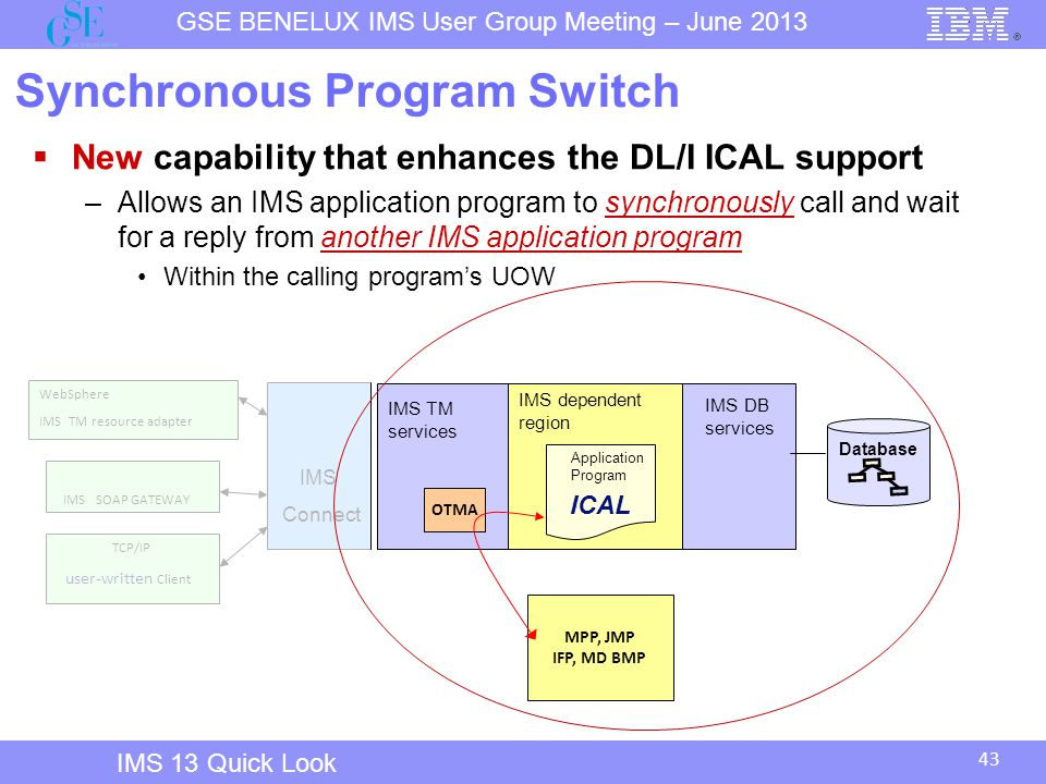 Synchronous Program Switch