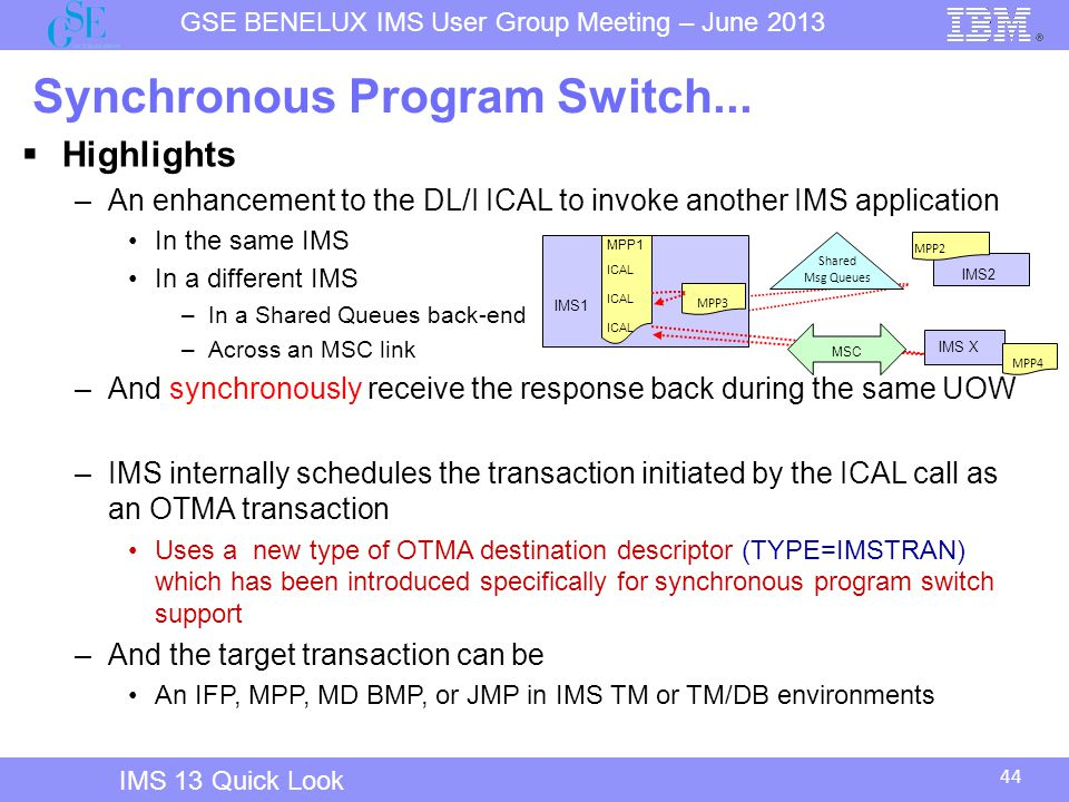 Synchronous Program Switch...