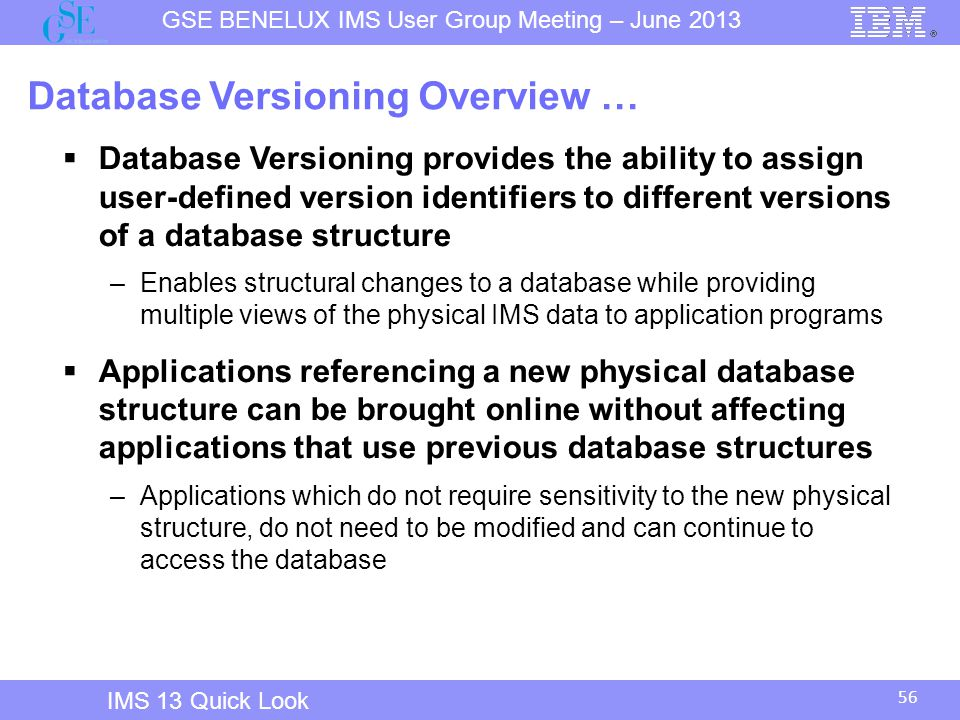 Database Versioning Overview …