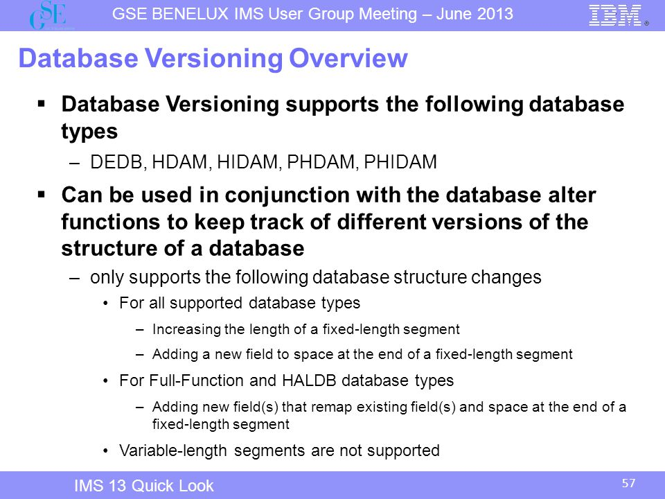 Database Versioning Overview