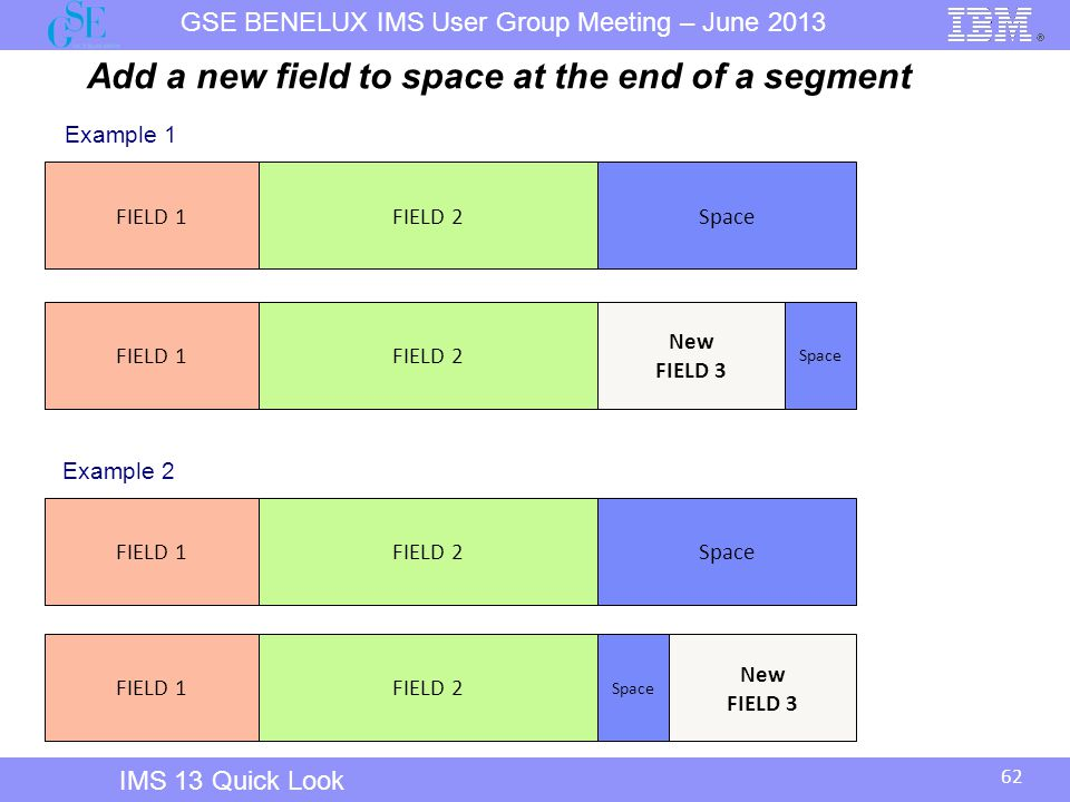 Add a new field to space at the end of a segment