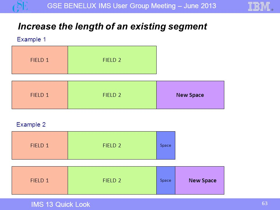 Increase the length of an existing segment