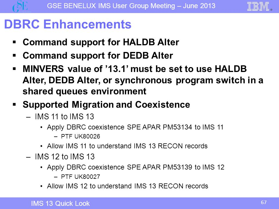 DBRC Enhancements Command support for HALDB Alter