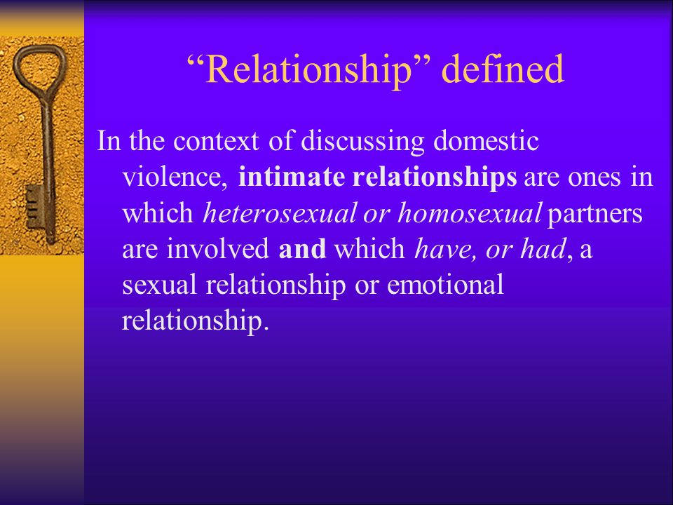 Relationship defined