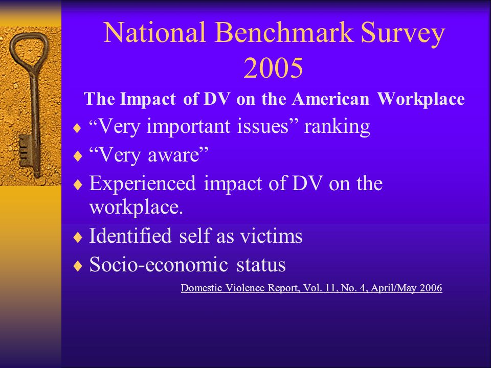 National Benchmark Survey 2005