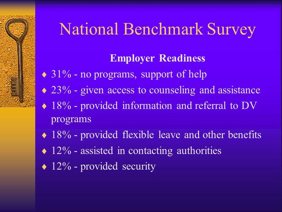 National Benchmark Survey