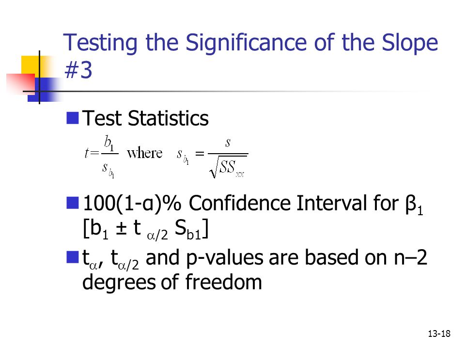 Testing the Significance of the Slope #3