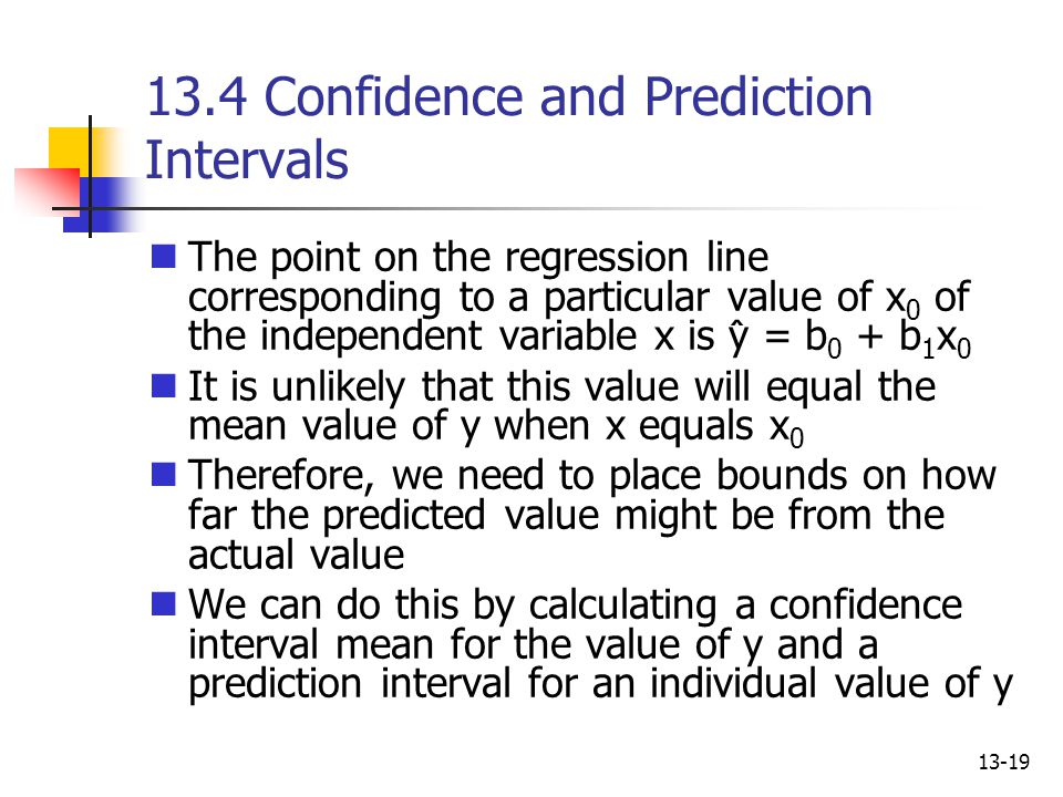13.4 Confidence and Prediction Intervals