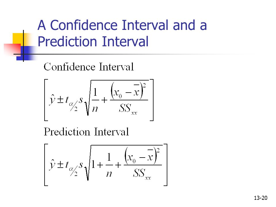 A Confidence Interval and a Prediction Interval