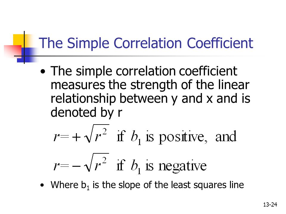 The Simple Correlation Coefficient