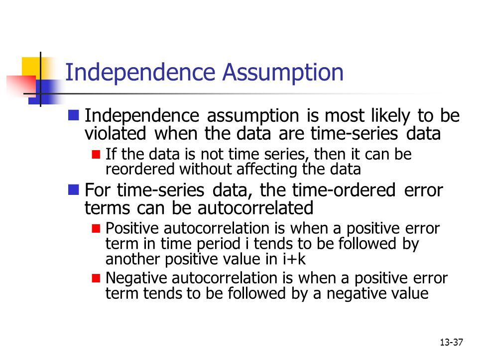 Independence Assumption