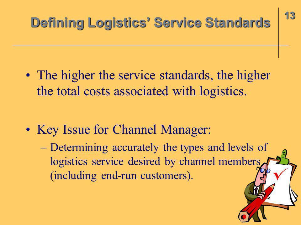 Defining Logistics' Service Standards