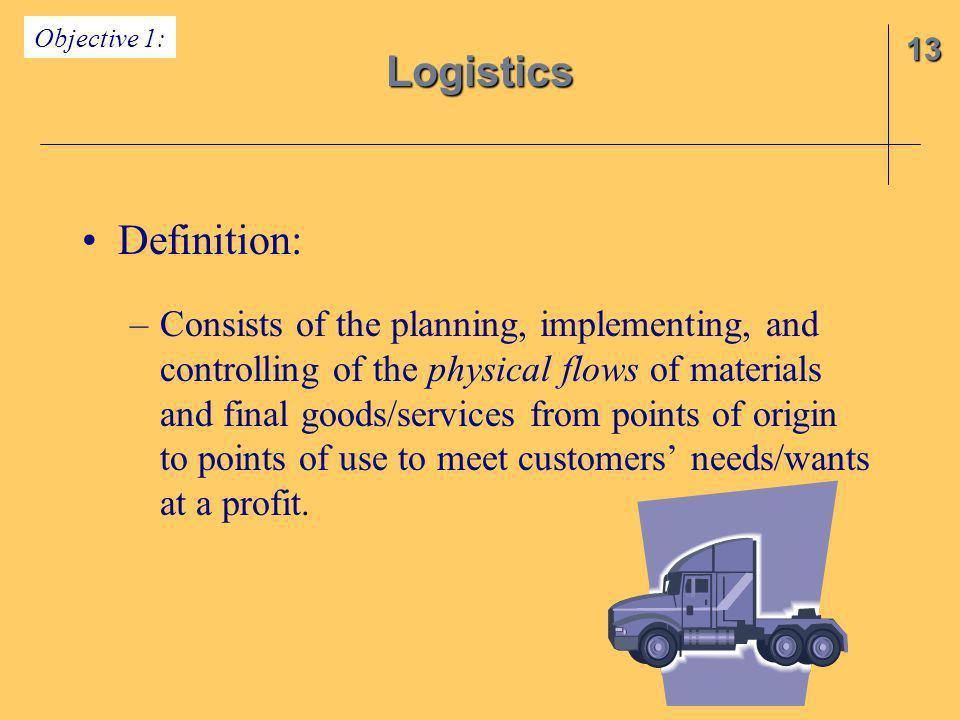 Logistics Definition: