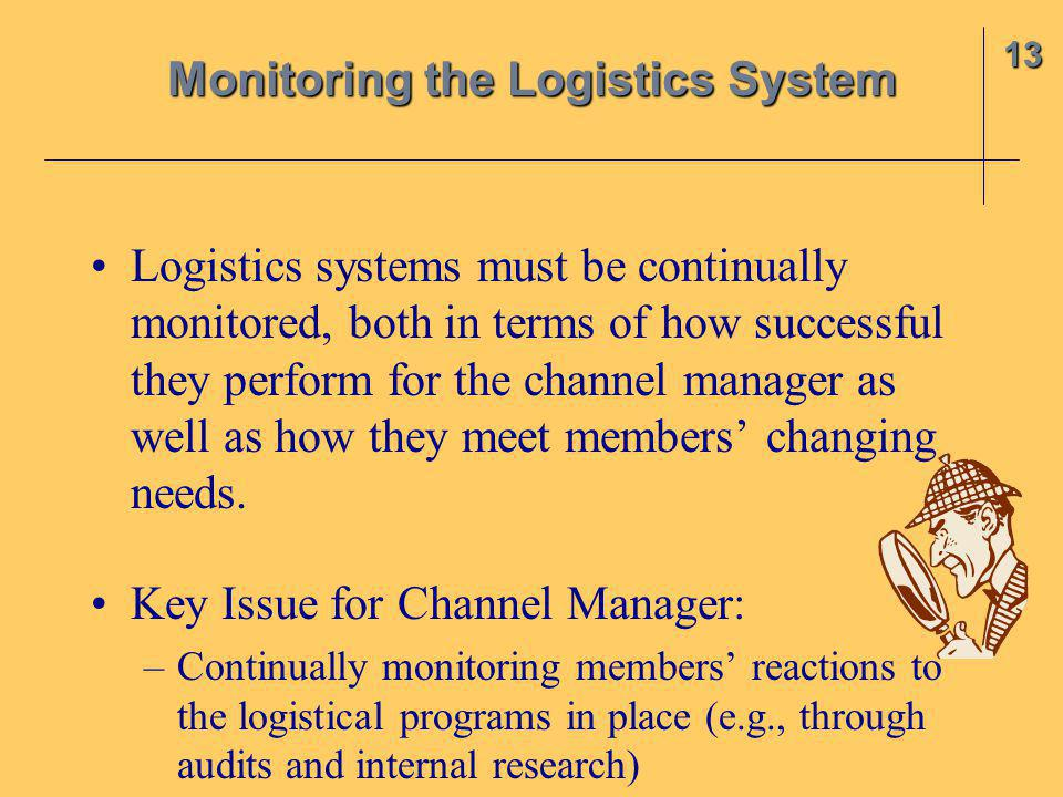Monitoring the Logistics System