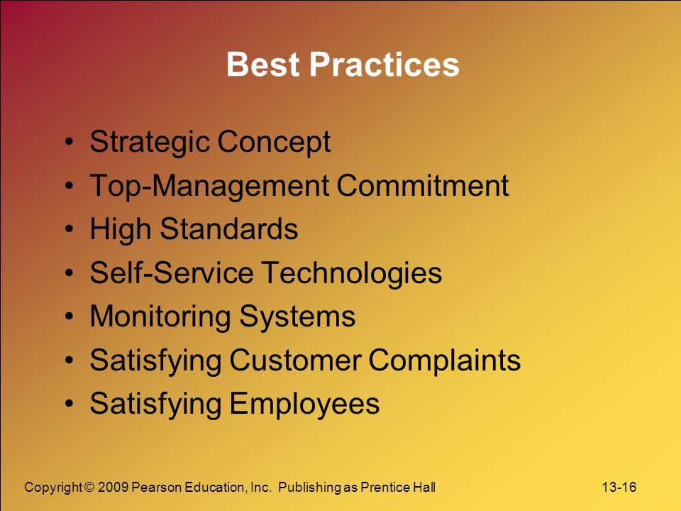 Best Practices Strategic Concept Top-Management Commitment