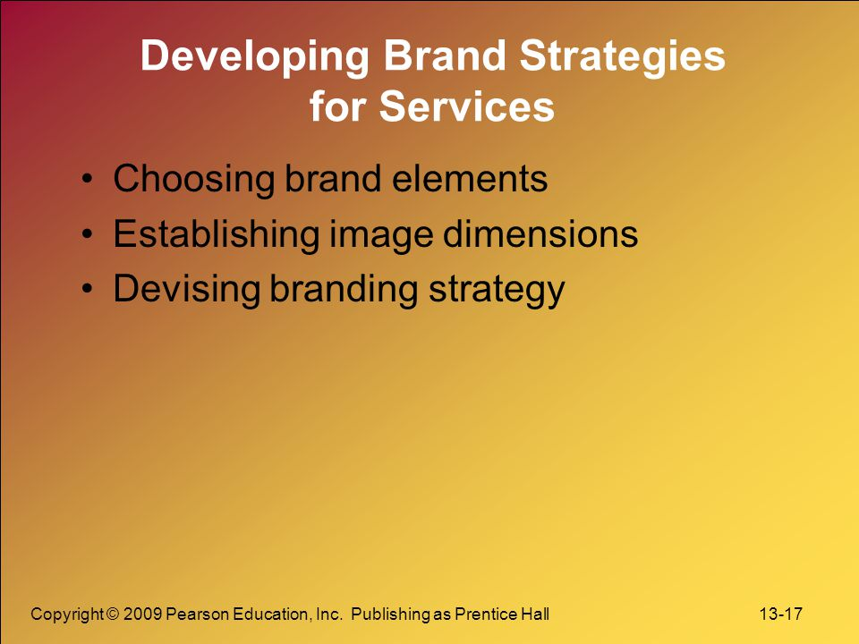 Developing Brand Strategies for Services