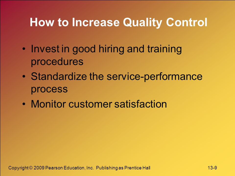 How to Increase Quality Control