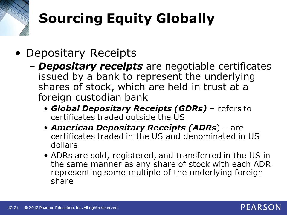 Sourcing Equity Globally