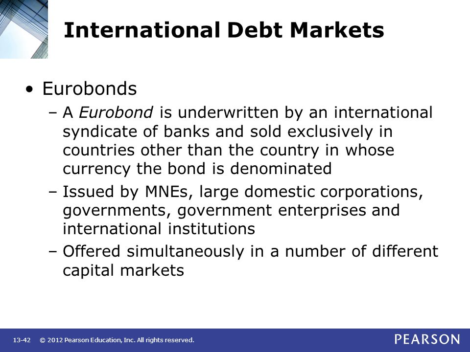 International Debt Markets