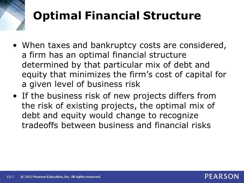 Optimal Financial Structure