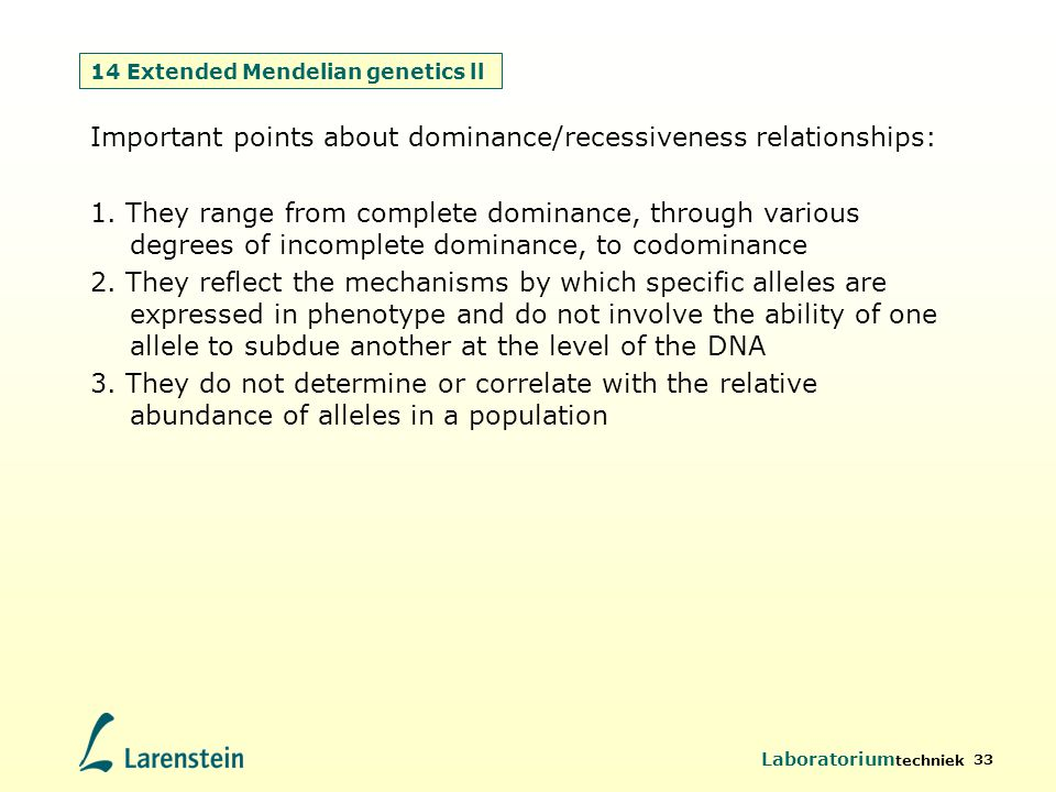 14 Extended Mendelian genetics ll