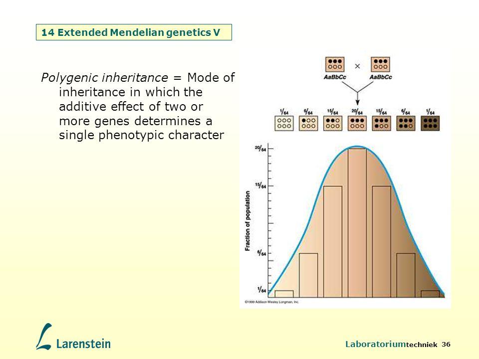 14 Extended Mendelian genetics V