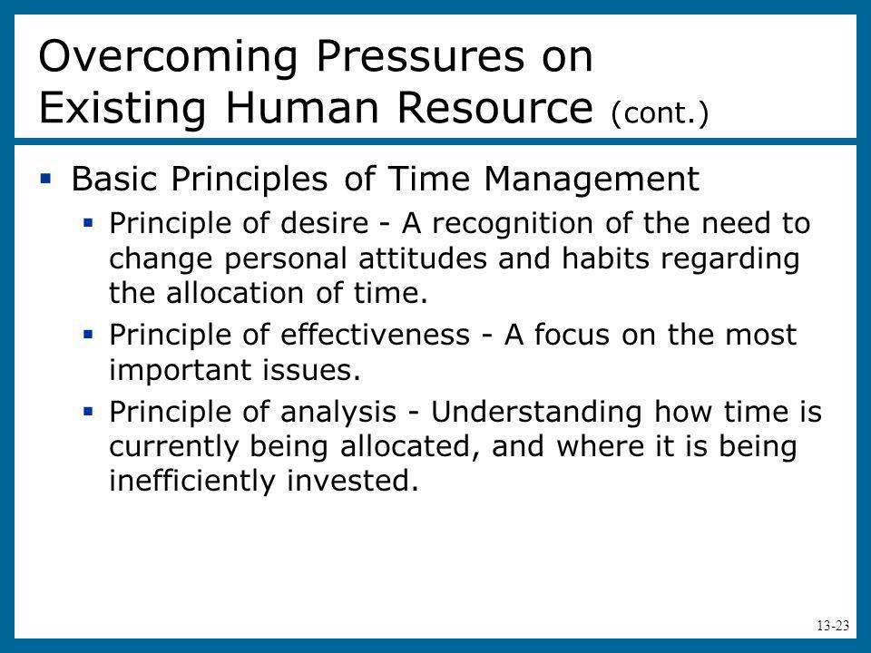 Overcoming Pressures on Existing Human Resource (cont.)