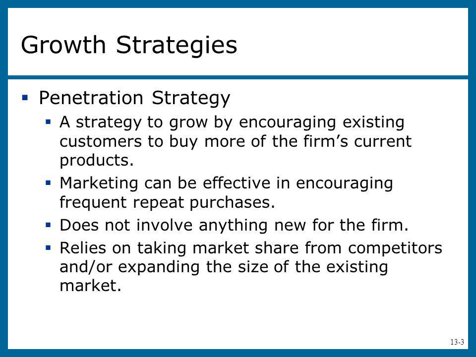 Growth Strategies Penetration Strategy