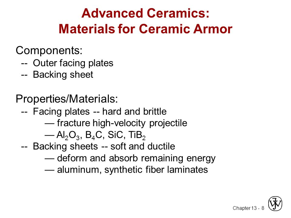 Advanced Ceramics: Materials for Ceramic Armor
