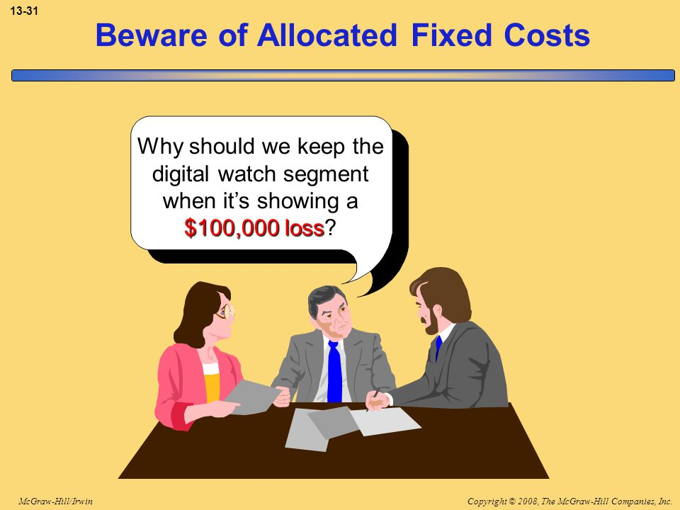 Beware of Allocated Fixed Costs
