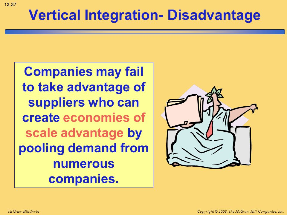 Vertical Integration- Disadvantage