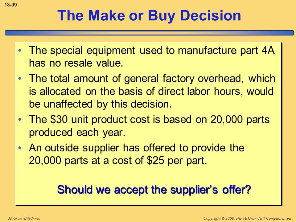 The Make or Buy Decision