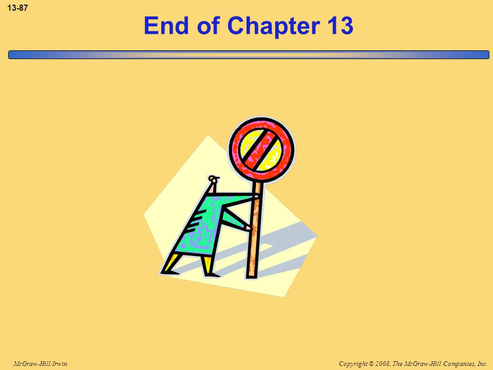 3-87 End of Chapter 13 End of chapter 13.