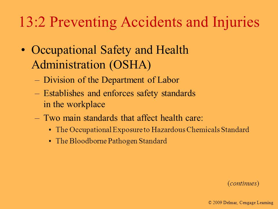 13:2 Preventing Accidents and Injuries