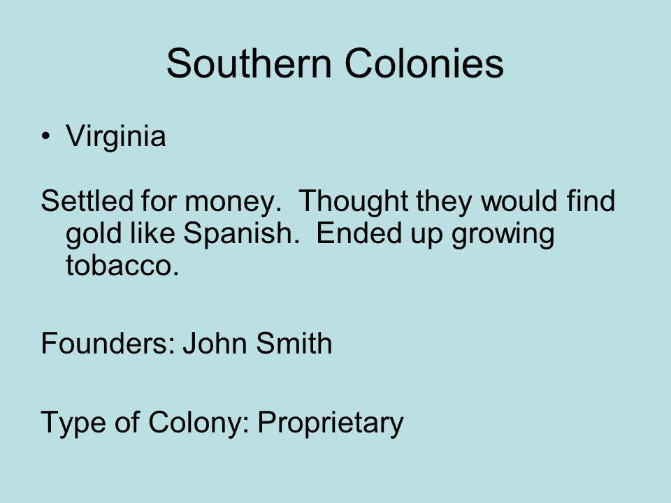 Southern Colonies Virginia
