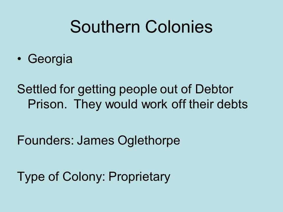 Southern Colonies Georgia