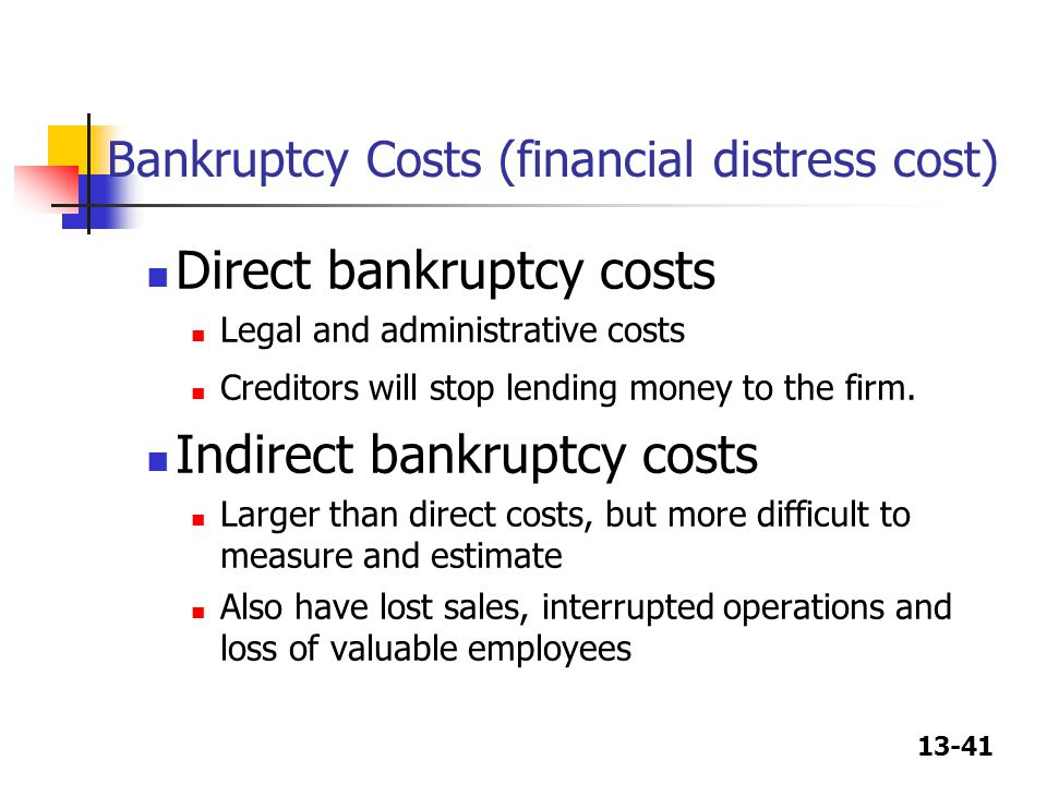 Financial distress, reorganization and bankruptcy Essay Sample
