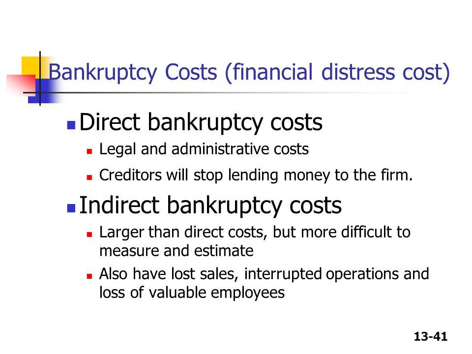 Bankruptcy Costs (financial distress cost)