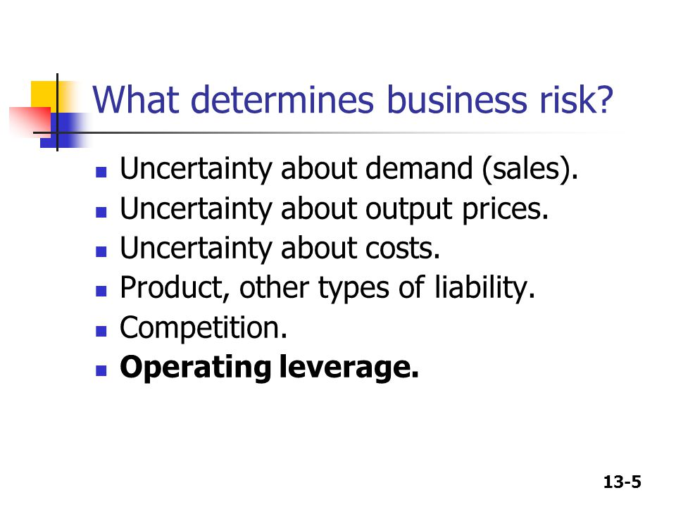 What determines business risk