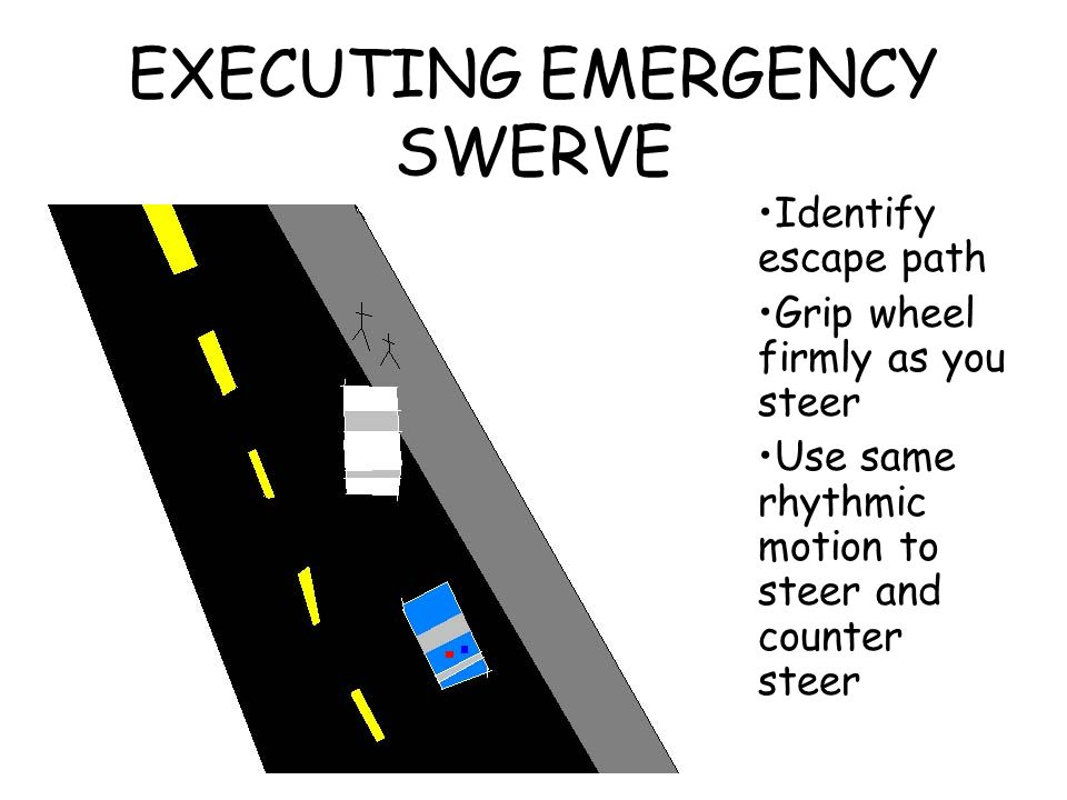 EXECUTING EMERGENCY SWERVE