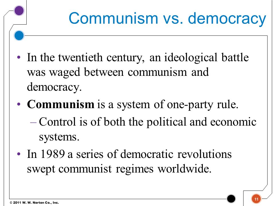 Communism vs. democracy
