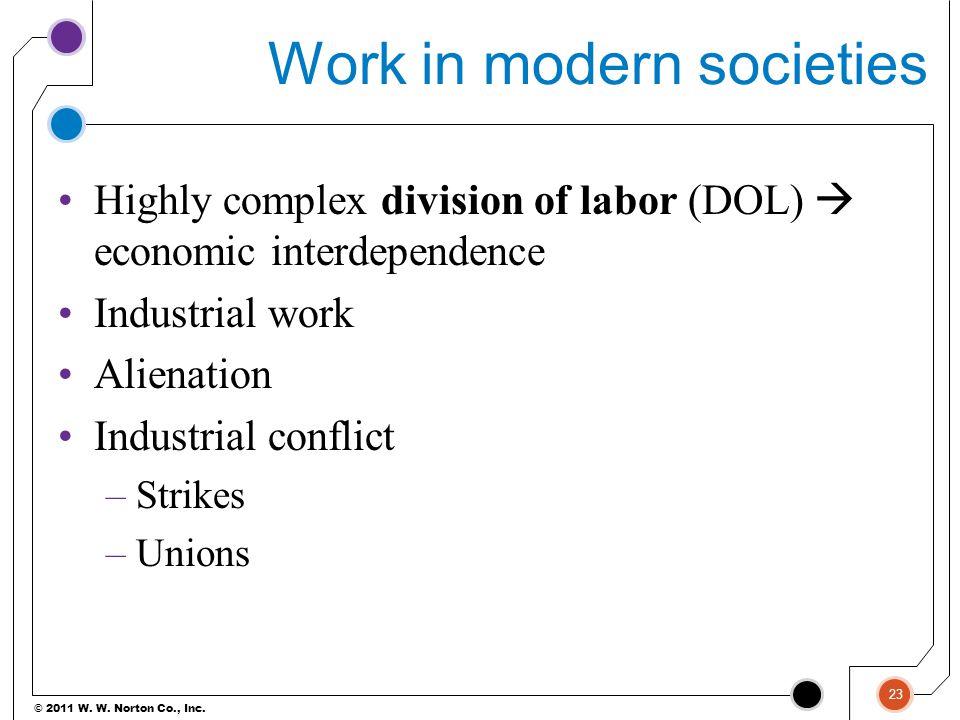 Work in modern societies