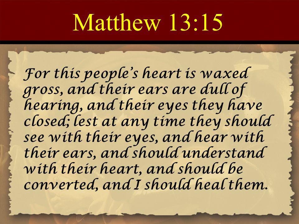 Matthew 13:15